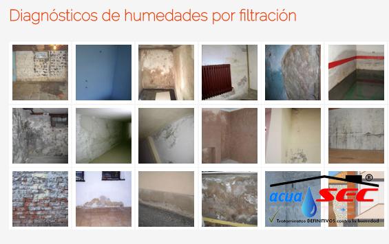 FOTO DE DIAGNOSTICO DE HUMEDADES POR FILTRACIÓN